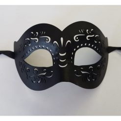 Masque vénitien MARCIE LEATHER EYE MASK 2A - black
