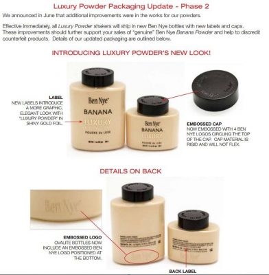Ben Nye luxury Powders New Packaging Look