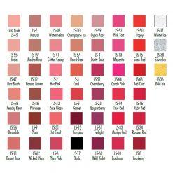 BEN NYE Lustrous Lipsticks LS color chart