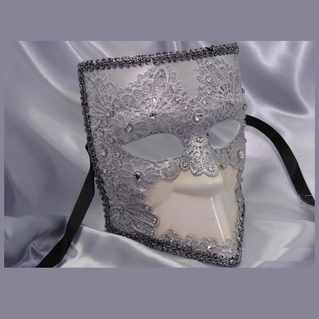 venetian bauta mask_grey