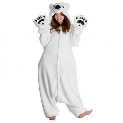 Ours blanc / polaire - Costume Kigurumi adulte - POLAR BEAR onesie