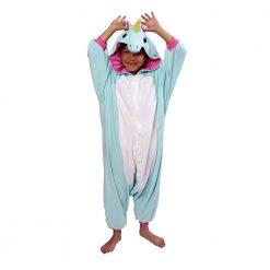 Kigurumi enfant de Licorne bleue - Costume onesie / Kids UNICORN BLUE Kigurumi onesie