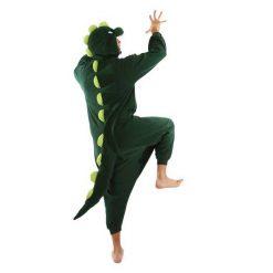 DINOSAUR Green Kigurumi onesie- adult_back