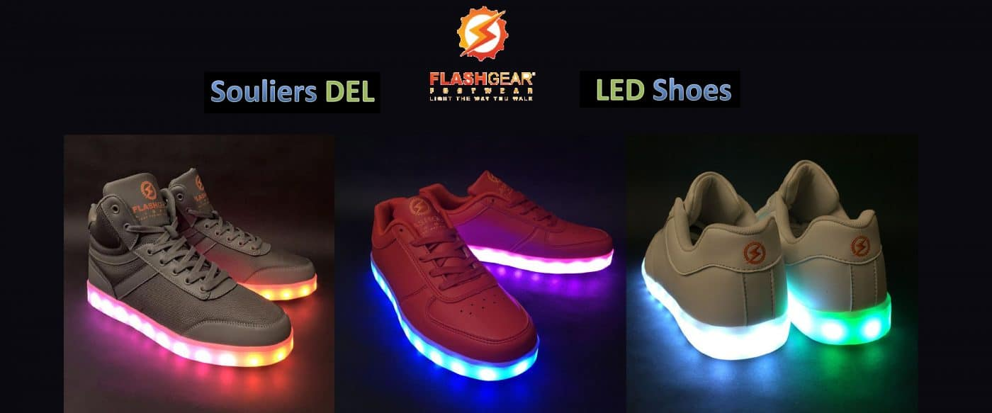 Souliers DEL Flashgear LED shoes