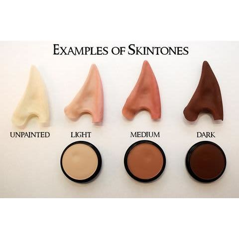Small Elf Ears Prosthetic - Unpainted color chart