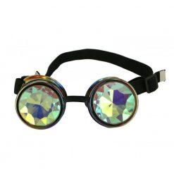 Steampunk Rainbow goggles kaleidoscope lenses/ Lunettes Steampunk arc-en-ciel kaleidoscopes