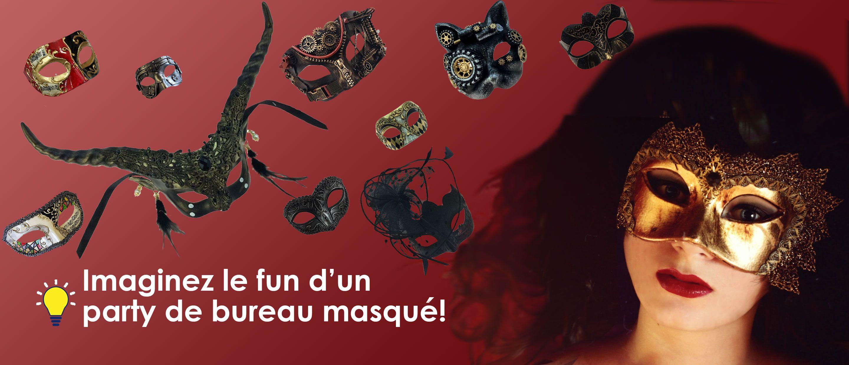 Banniere Masques Venitiens party de bureau - venetian Masks