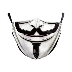 Safety Face Mask with V Vendetta print / Masque de protection