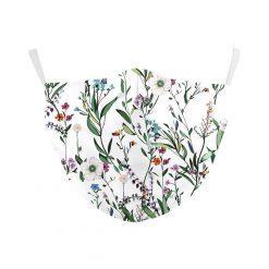 Reusable Safety Face Mask with flowers print / Masque de protection lavable - imprimé fleurs