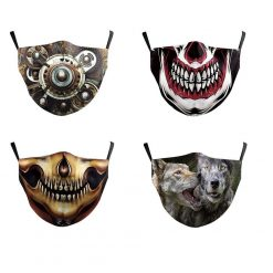 4 safety face masks - assorted