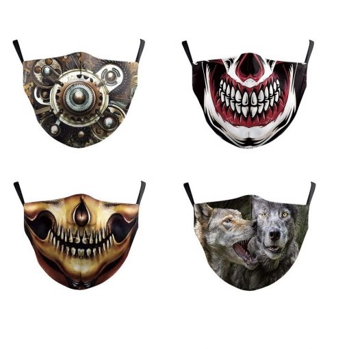 4 safety face masks - assorted