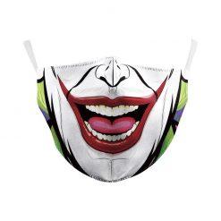 Reusable Safety Face Mask - joker clown print / Masque de protection lavable - imprimé joker clown