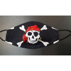 Reusable Safety Face Mask - Pirate skull print / Masque de protection lavable - crane pirate