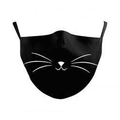 Reusable Face Mask - Cat whiskers - washable cloth / Masque lavable en tissu - Chat