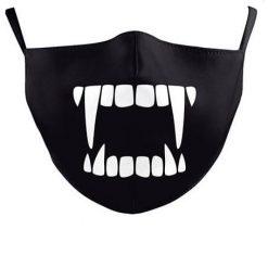 Reusable Face Mask - Vampire Fangs - washable cloth / Masque lavable en tissu - Dents vampires