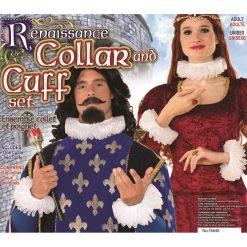 Victorian Ruff Collar and Cuff Set - White/ Ensemble Collet et Poignet victorien